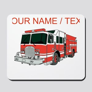 Custom Red Fire Truck Mousepad