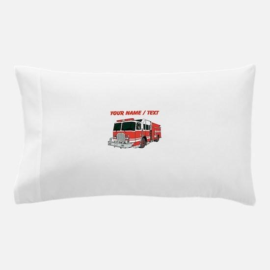 Custom Red Fire Truck Pillow Case
