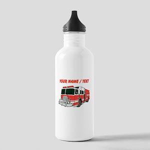 Custom Red Fire Truck Sports Water Bottle