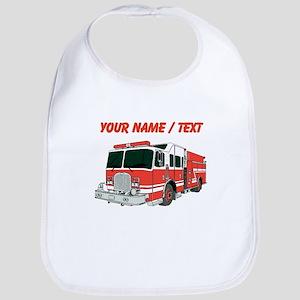 Custom Red Fire Truck Bib