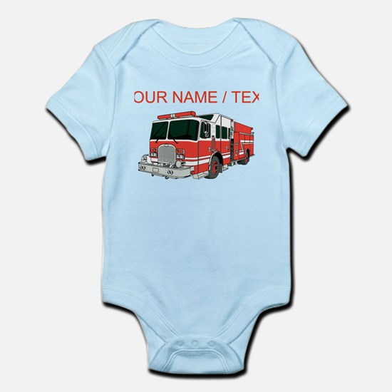 Custom Red Fire Truck Body Suit