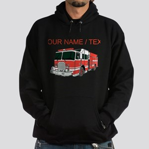 Custom Red Fire Truck Hoody