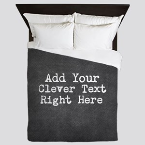Add Text Background Chalkboard Queen Duvet