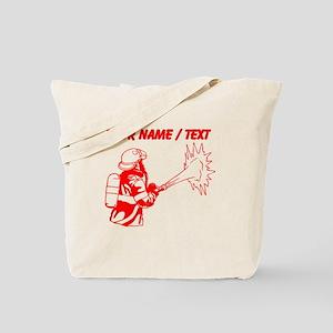 Custom Red Firefighter Tote Bag