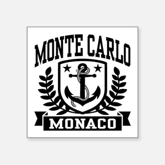 """Monte Carlo Monaco Square Sticker 3"""" x 3"""""""