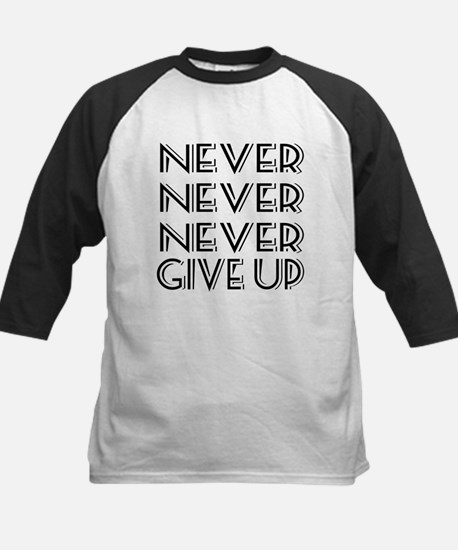Never Give Up Kids Baseball Jersey