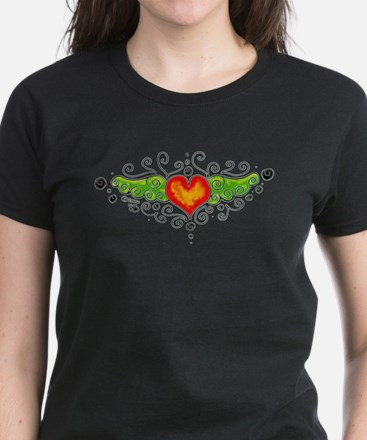 Flying Heart Women's Dark T-Shirt