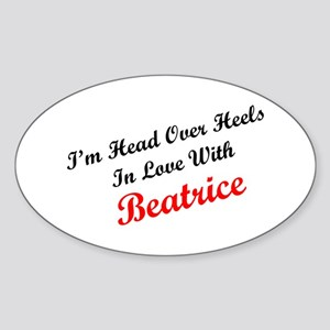 In Love with Beatrice Oval Sticker