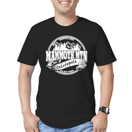 Mammoth Mtn Old Circle Black Men's Fitted T-Shirt