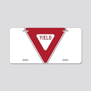 Yield Sign Aluminum License Plate