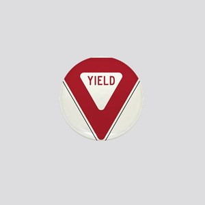 Yield Sign Mini Button