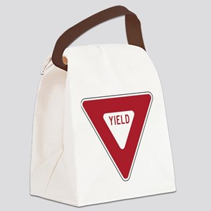 Yield Sign Canvas Lunch Bag