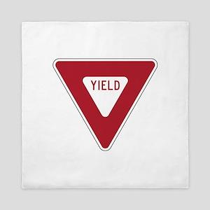 Yield Sign Queen Duvet