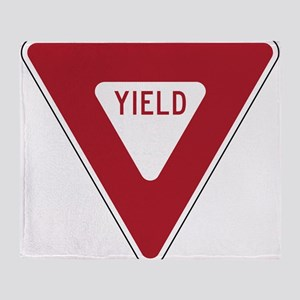 Yield Sign Throw Blanket