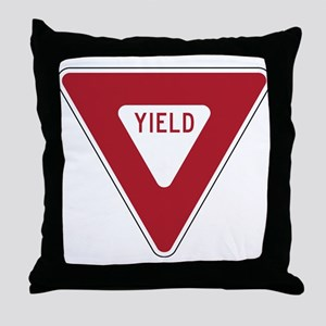 Yield Sign Throw Pillow