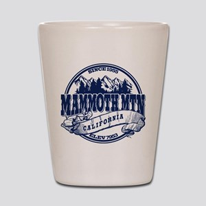 Mammoth Mtn Old Circle Blue Shot Glass