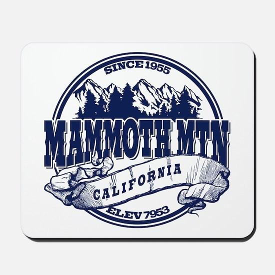 Mammoth Mtn Old Circle Blue Mousepad