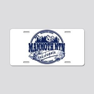 Mammoth Mtn Old Circle Blue Aluminum License Plate