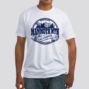 Mammoth Mtn Old Circle Blue Fitted T-Shirt