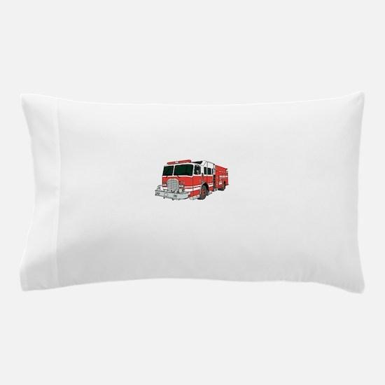 Red Fire Truck Pillow Case