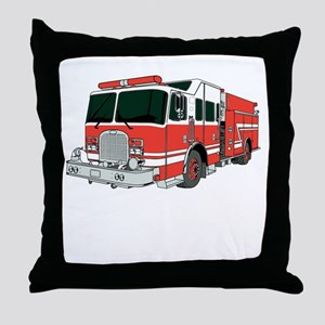 Red Fire Truck Throw Pillow