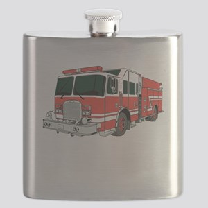 Red Fire Truck Flask