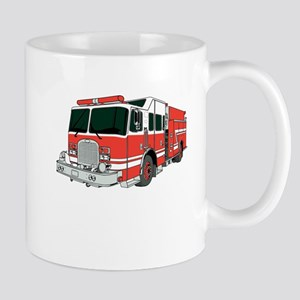 Red Fire Truck Mugs