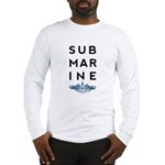 Submarine Stacked with Dolphins Long Sleeve T-Shir