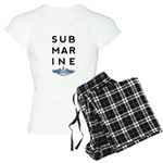 Submarine Stacked with Dolphins Women's Light Paja