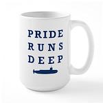 Pride Runs Deep with Submarine Large Mug