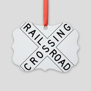 Rail Road Crossing Ornament