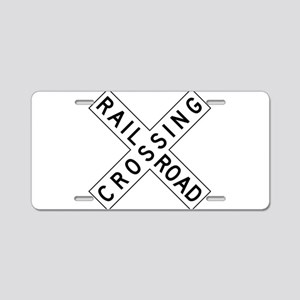 Rail Road Crossing Aluminum License Plate