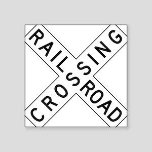 Rail Road Crossing Sticker