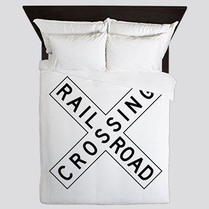 Rail Road Crossing Queen Duvet