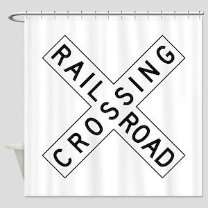 Rail Road Crossing Shower Curtain