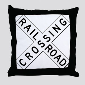 Rail Road Crossing Throw Pillow