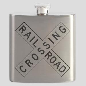 Rail Road Crossing Flask