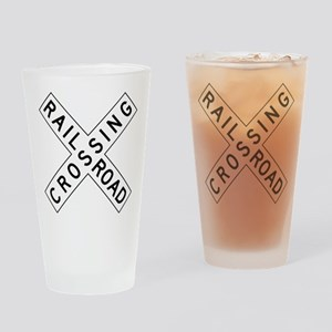 Rail Road Crossing Drinking Glass