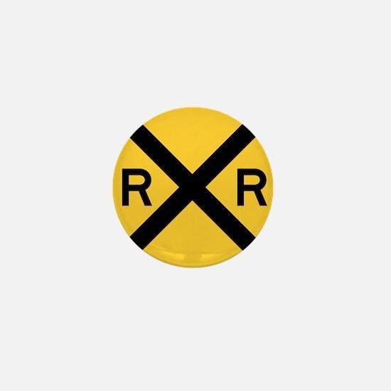Rail Road Crossing Mini Button