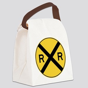 Rail Road Crossing Canvas Lunch Bag