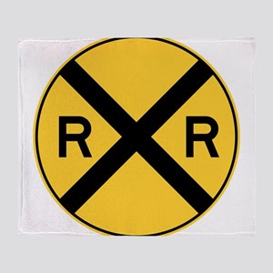 Rail Road Crossing Throw Blanket