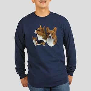 Corgi Long Sleeve Dark T-Shirt