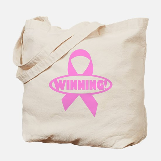 Winning Against Cancer Tote Bag