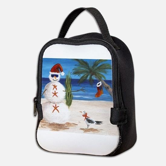 Christmas Beach Sandman Neoprene Lunch Bag