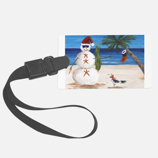 Christmas Beach Sandman Luggage Tag