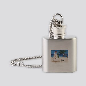 Christmas Beach Sandman Flask Necklace
