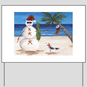 Christmas Beach Sandman Yard Sign