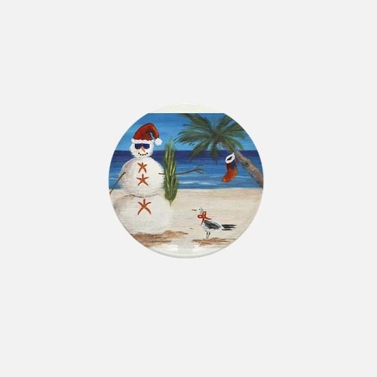 Christmas Beach Sandman Mini Button (100 pack)
