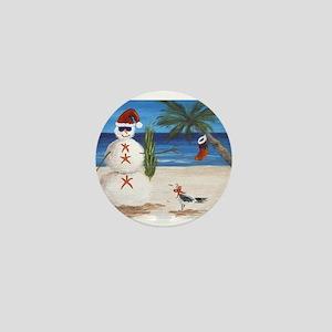 Christmas Beach Sandman Mini Button