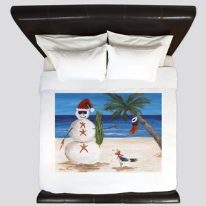 Christmas Beach Sandman King Duvet